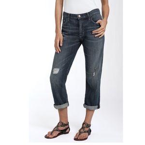 Current/Elliott Distressed Boyfriend Jeans Size 26